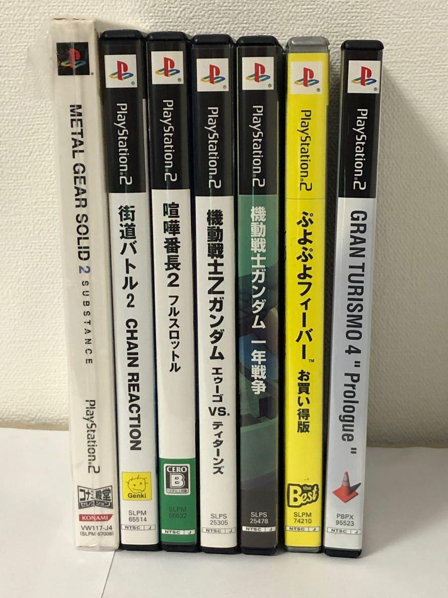 PlayStation2 本体 8MB SONY純正品x1 ソフト 7本セット