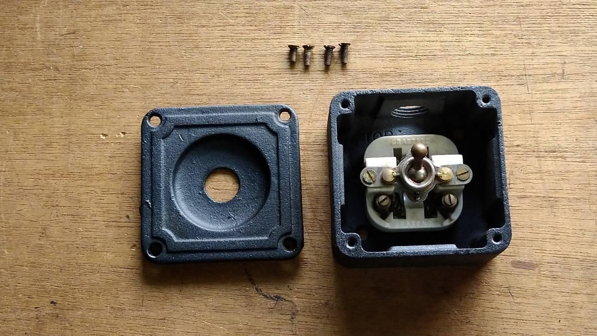 ビンテージ インダストリアル スイッチ スクエアマットブラック vintage industrial switch Made in England_画像6