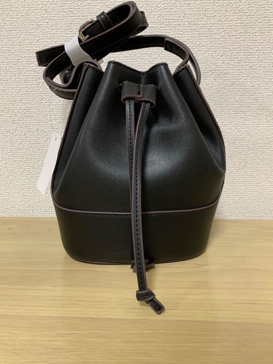 ショルダーバッグ  レディースバッグ 巾着バッグ バケツバッグ レディース PUレザーバッグ ショルダーバッグ  黒