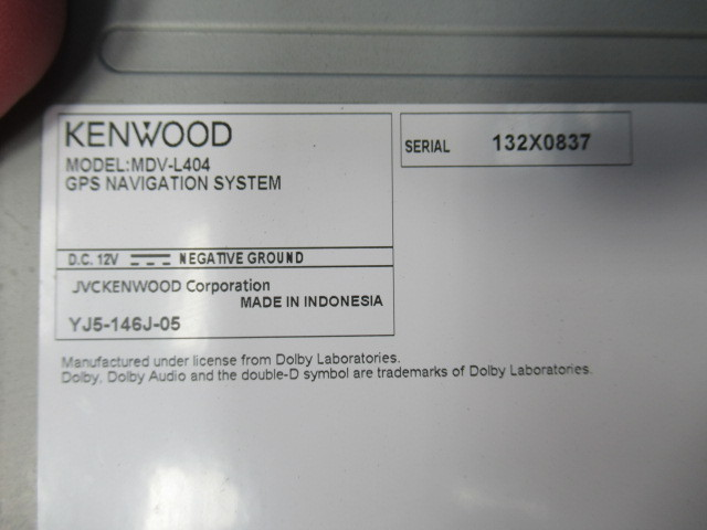 ケンウッド メモリーナビ MDV-L404 ワンセグ 中古_画像4