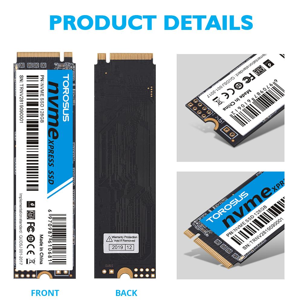 【最安値!】SSD TOROSUS M.2 NVMe PCI-E 256GB 新品未開封 高速 2280 TLC 3D NAND 内蔵型 デスクトップ ノートPC_画像2