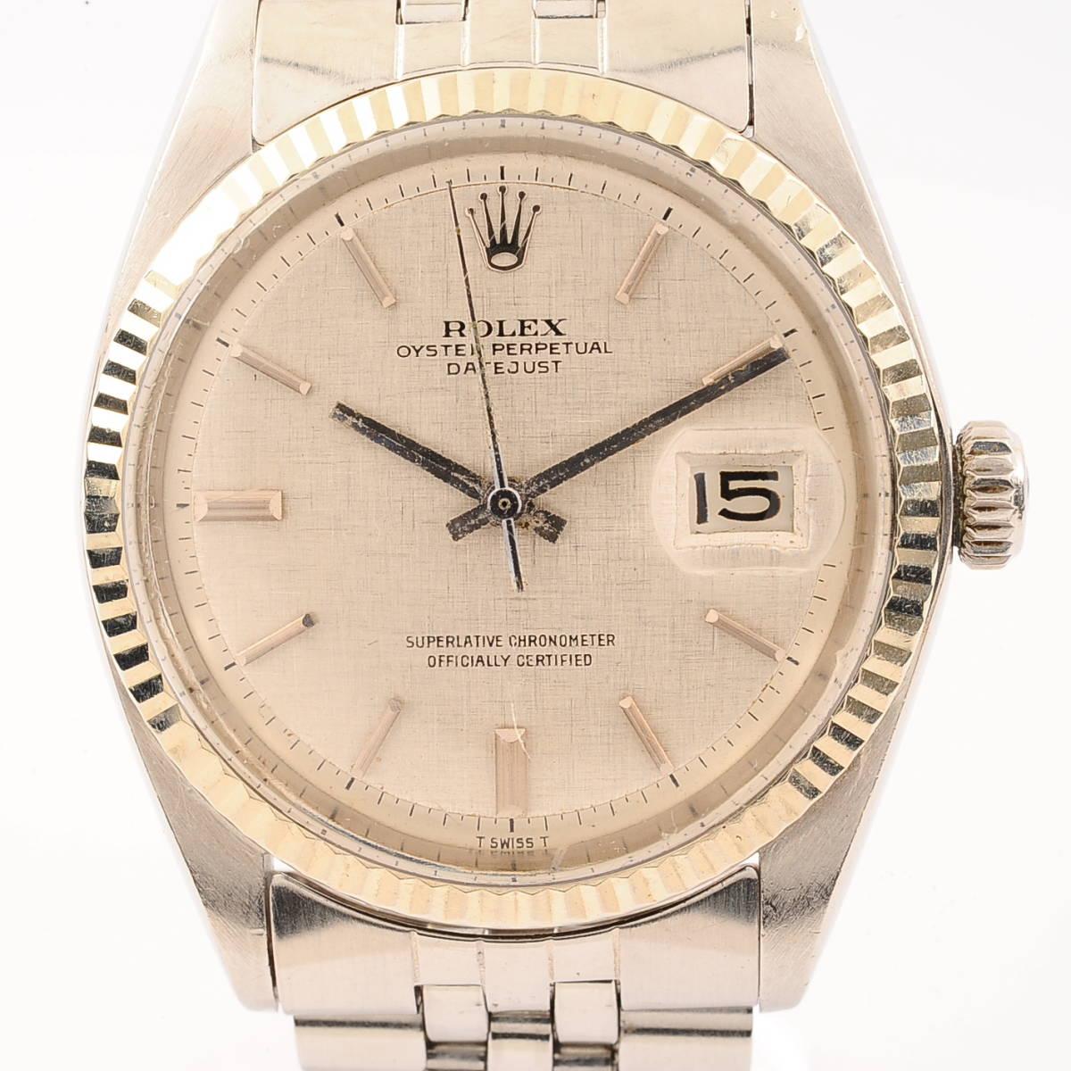 ロレックス オイスターパーペチュアル デイトジャスト Ref,1601 ROLEX OYSTER PERTETUAL DATEJUST Cal,1570 自動巻 メンズ 腕時計[3331815]