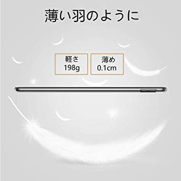 (ダークブラック) KENKE iPad 9.7 2017/2018 ケース 軽量 薄型 耐衝撃 放熱 三つ折りスタンド オート_画像3