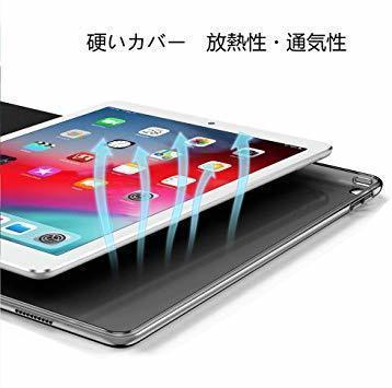 (ダークブラック) KENKE iPad 9.7 2017/2018 ケース 軽量 薄型 耐衝撃 放熱 三つ折りスタンド オート_画像7