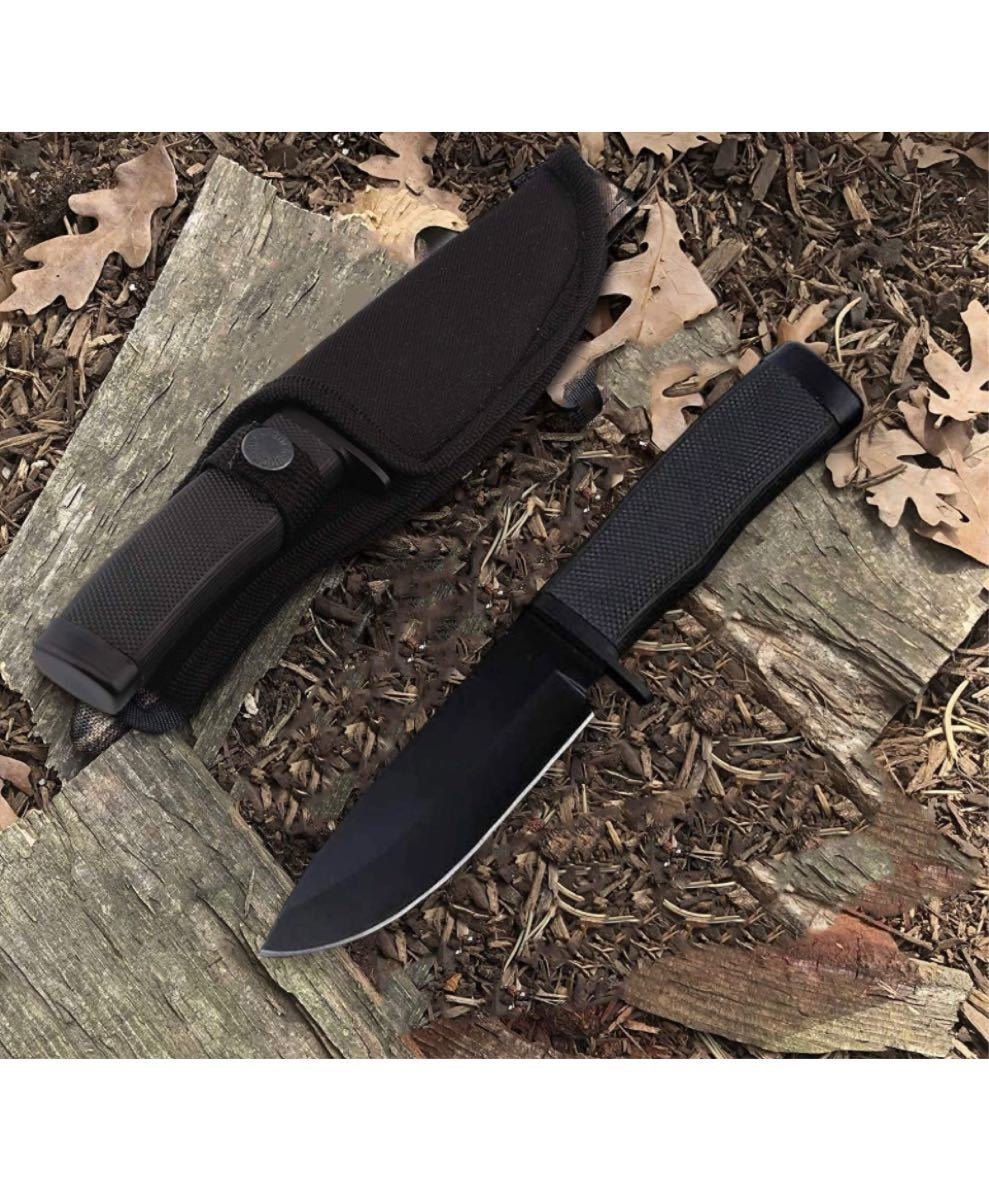 シースナイフ サバイバルナイフ 全長225mm 専用シース付き