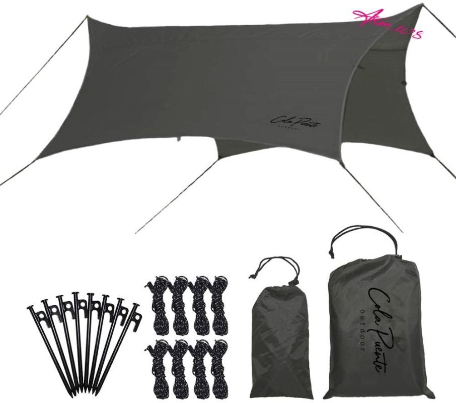 ★かっこいい タープ ヘキサ テント ソロ キャンプ ツーリング 簡単 軽量 コンパクト 天幕 防水 UVカット