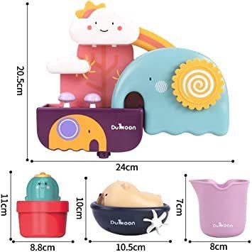 GILOBABY お風呂 おもちゃ 水遊び玩具 シャワーカップ 噴水おもちゃ かわいい形 安全素材 強力な吸盤付き 男の子 女の_画像6