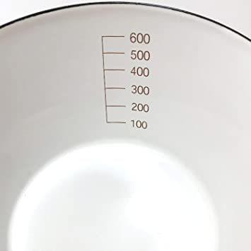 アッシュピンク 【Amazon.co.jp限定】 富士ホーロー 片手 鍋 ミルクパン 14cm 0.8L 目盛り付き アッシュピ_画像4