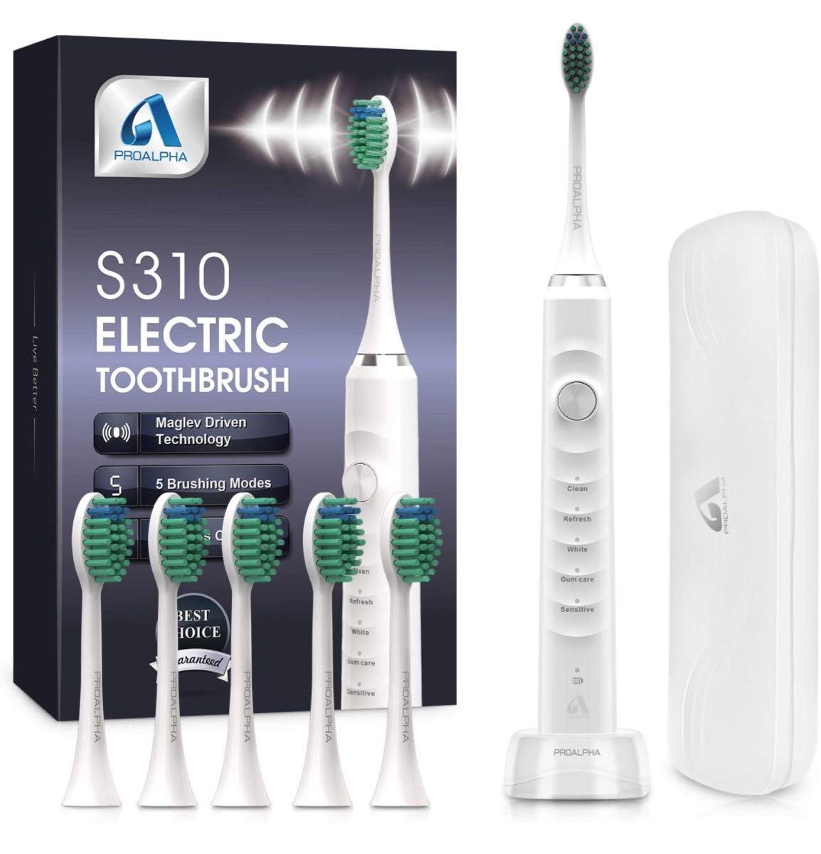 電動歯ブラシ 音波歯ブラシ ソニック USB充電式 IPX7防水
