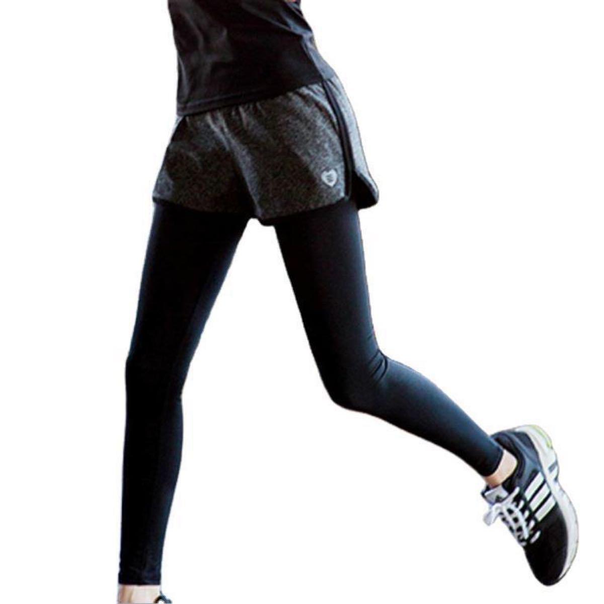 ランニングウェア ジムウェア スポーツウェア トレーニング ヨガパンツ レギンス 美脚 ショートパンツ フィットネス スパッツ