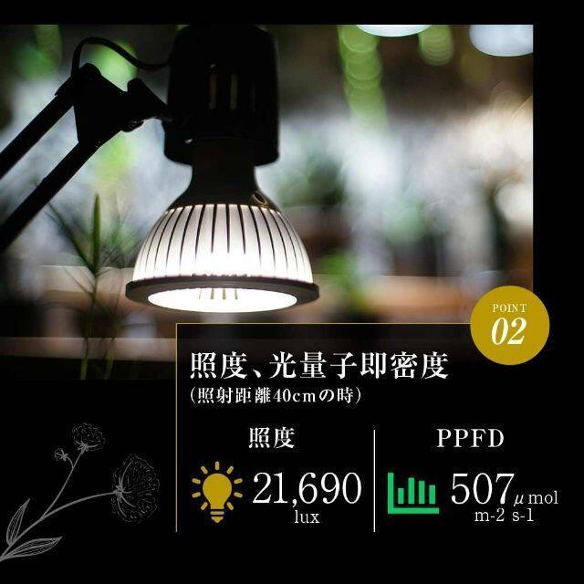 ツクヨミ 初回限定リフレクター付 TSUKUYOMI LED 20W 植物育成LED 太陽光LED アクアリウムLED テラリウム 室内太陽光LED ホワイトボディ_画像5