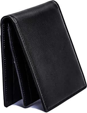 ブラック 【Village Variety】マネークリップ メンズ 財布 薄い 二つ折り 本革 小銭入れ付き_画像1