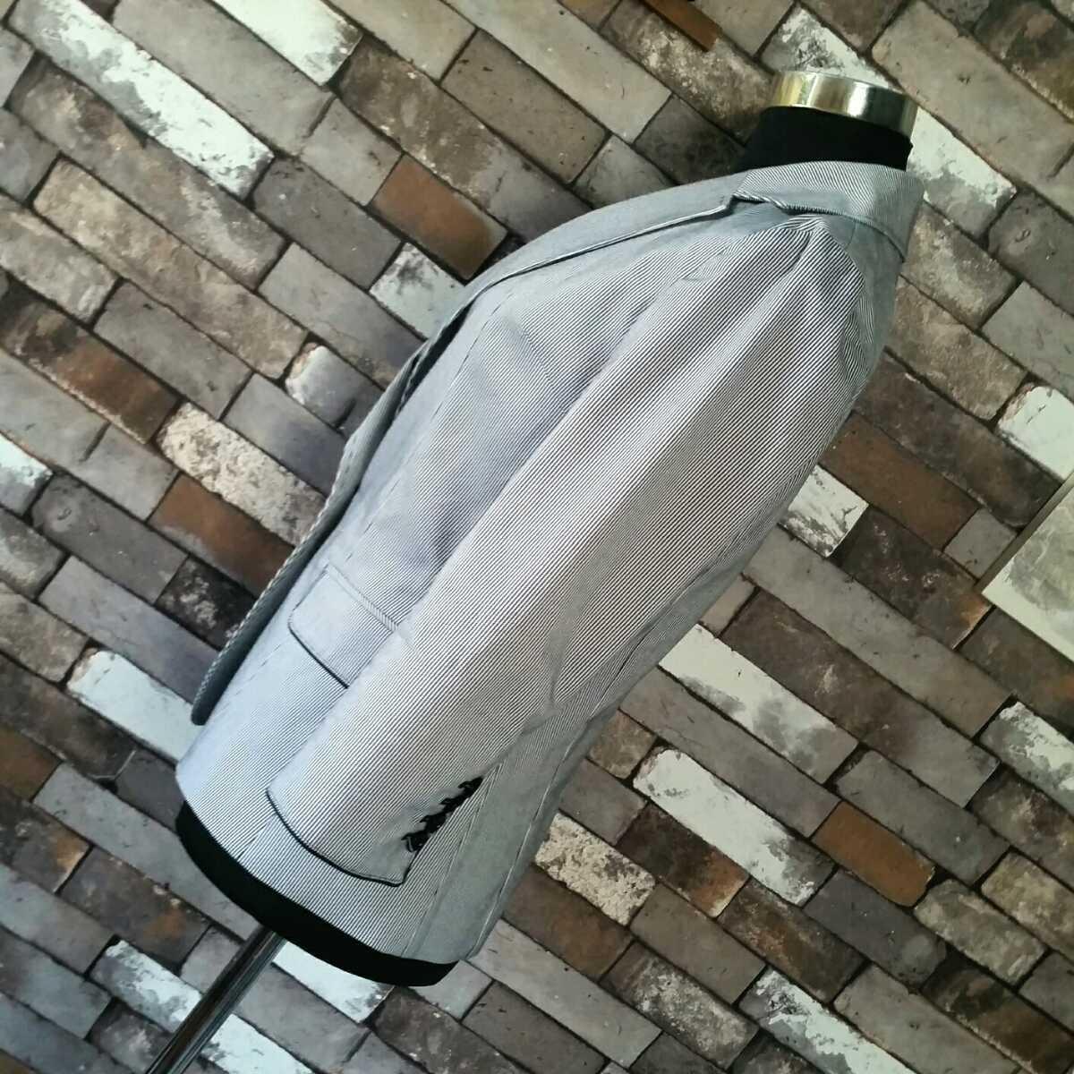 テーラードジャケット VICKY 白黒 ストライプ サマージャケット