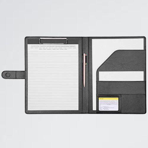 新品 未使用 クリップボ-ドフォルダPU会議パッドクリップファイルバインダ-A4デスクパッド署名フォルダ 左利き用 M-KD 事務用品 (黒)_画像1