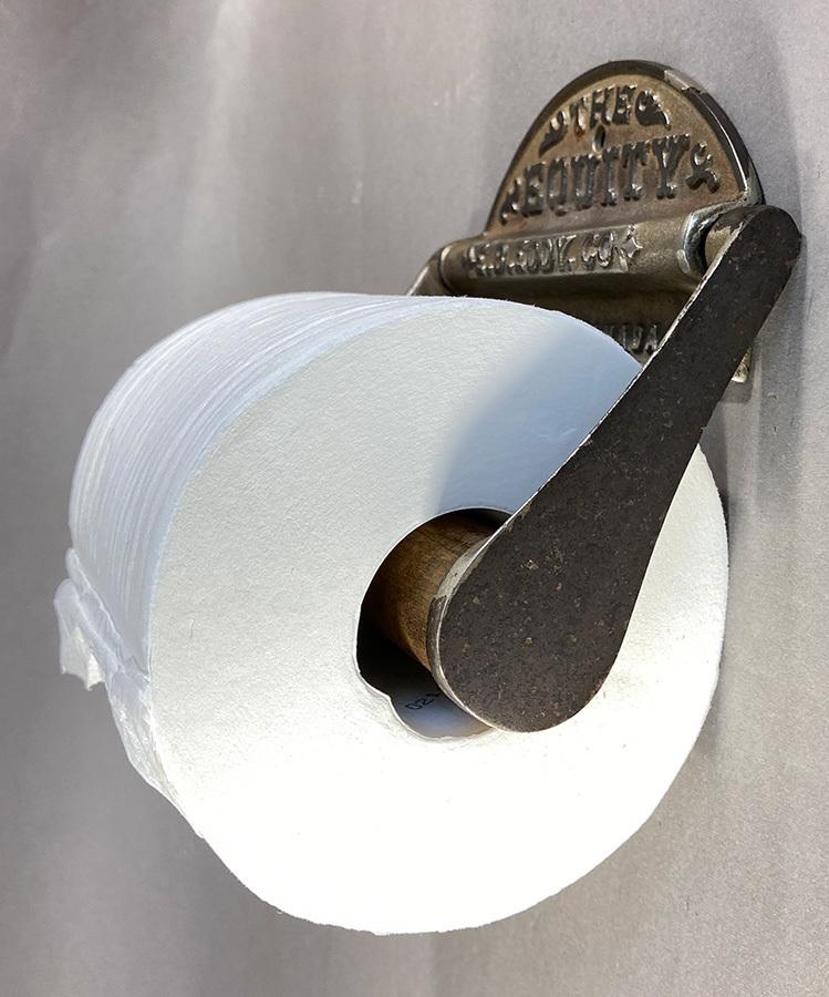 1890's アンティーク トイレットペーパーホルダー/アイアン/ビンテージ/ランプ/o.c.white/カントリー/ドアノブ/店舗什器/照明/シャビー/鏡_画像4