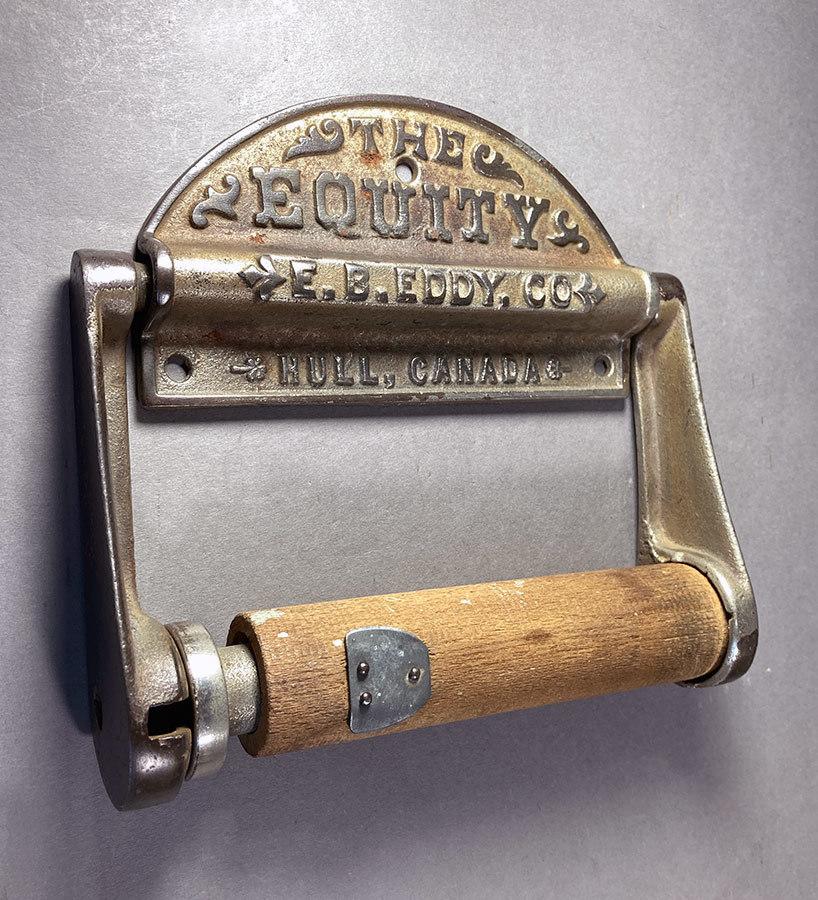 1890's アンティーク トイレットペーパーホルダー/アイアン/ビンテージ/ランプ/o.c.white/カントリー/ドアノブ/店舗什器/照明/シャビー/鏡_画像2