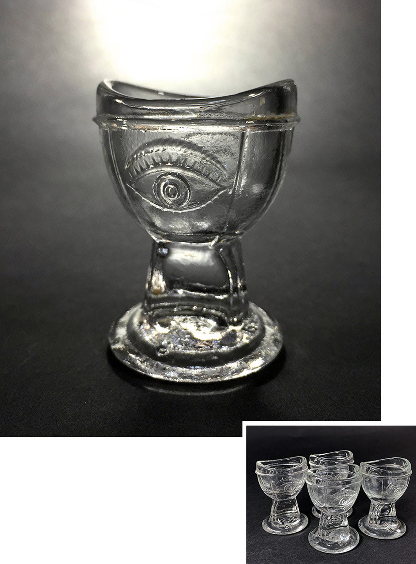 -残り3個-【め】1930's アンティーク ガラス製 アイウォッシュ/アイボン/バスルーム/ランプ/照明/店舗什器/ビンテージ/鏡/gras/o.c.white_画像1