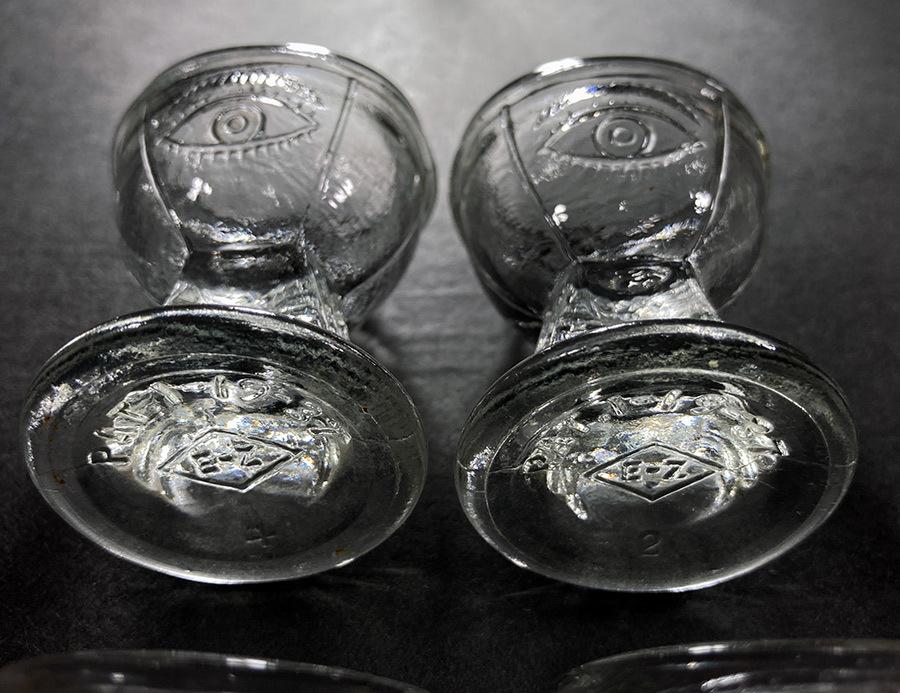 -残り3個-【め】1930's アンティーク ガラス製 アイウォッシュ/アイボン/バスルーム/ランプ/照明/店舗什器/ビンテージ/鏡/gras/o.c.white_画像7