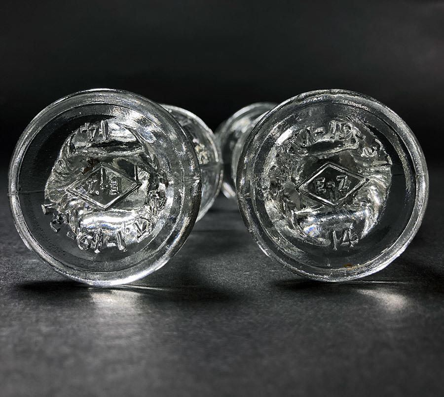 -残り3個-【め】1930's アンティーク ガラス製 アイウォッシュ/アイボン/バスルーム/ランプ/照明/店舗什器/ビンテージ/鏡/gras/o.c.white_画像6