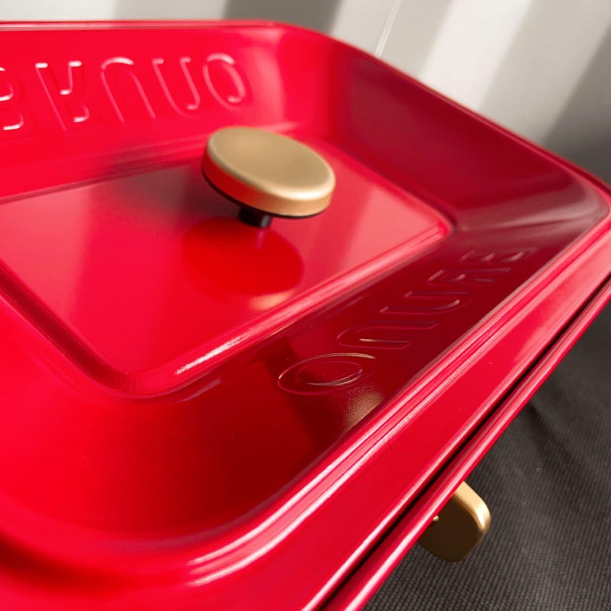 新品! BRUNO ブルーノ コンパクトホットプレート たこ焼き機 お好み焼き機 焼肉機 鉄板 調理機器 レッド ヒーター分離式 BOE021_画像8