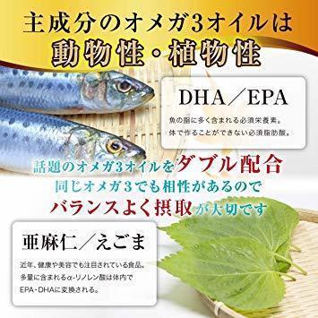 【論2】オメガ3 DHA EPA フィッシュオイル アスタキサンチン ナットウキナーゼ オイリッチEX 亜麻仁油 えごま油 3_画像4