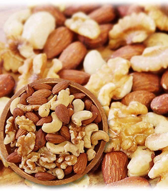 ミックスナッツ 3種類 1kg 徳用 生くるみ 40% アーモンド 40% カシューナッツ 20% 素焼き オイル不使用 無塩 無添加 _画像1