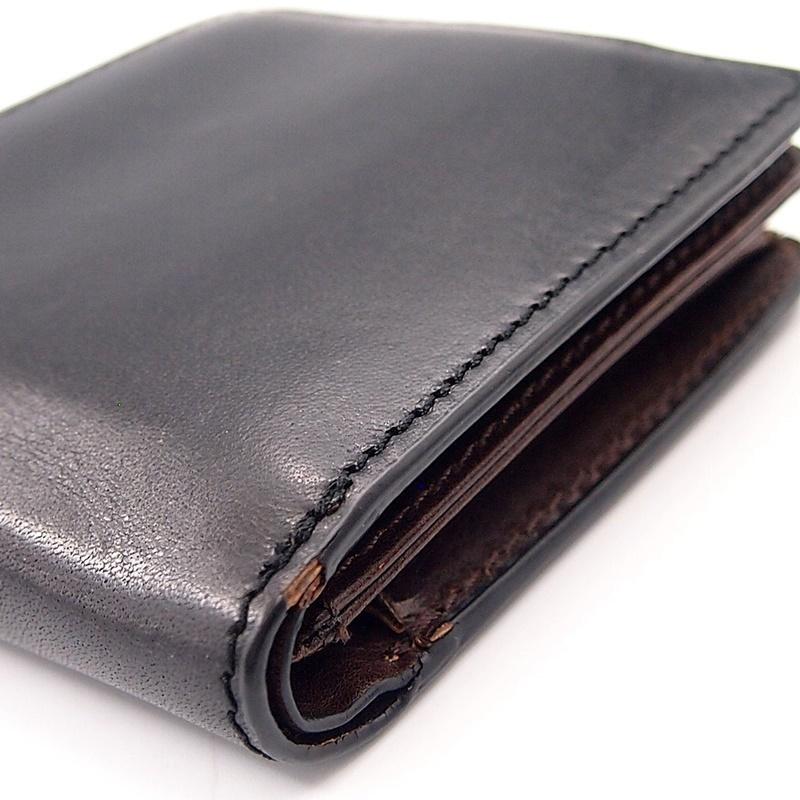 リベロ LA-002 牛革 二つ折り <財布> ブラック ブラウン 黒 折りたたみ カードケース コインケース 小銭入れ レザー メンズ LIBERO_画像4