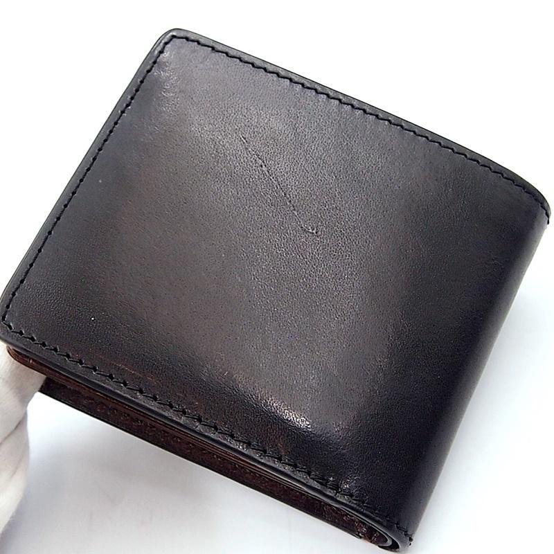 リベロ LA-002 牛革 二つ折り <財布> ブラック ブラウン 黒 折りたたみ カードケース コインケース 小銭入れ レザー メンズ LIBERO_画像3