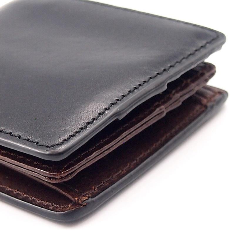 リベロ LA-002 牛革 二つ折り <財布> ブラック ブラウン 黒 折りたたみ カードケース コインケース 小銭入れ レザー メンズ LIBERO_画像5