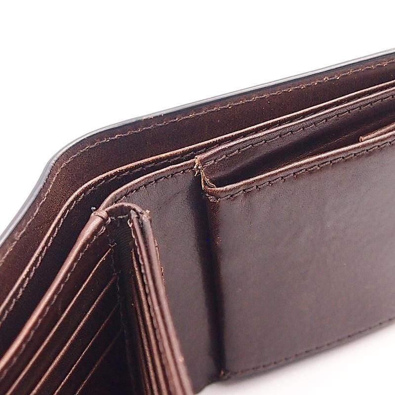 リベロ LA-002 牛革 二つ折り <財布> ブラック ブラウン 黒 折りたたみ カードケース コインケース 小銭入れ レザー メンズ LIBERO_画像8
