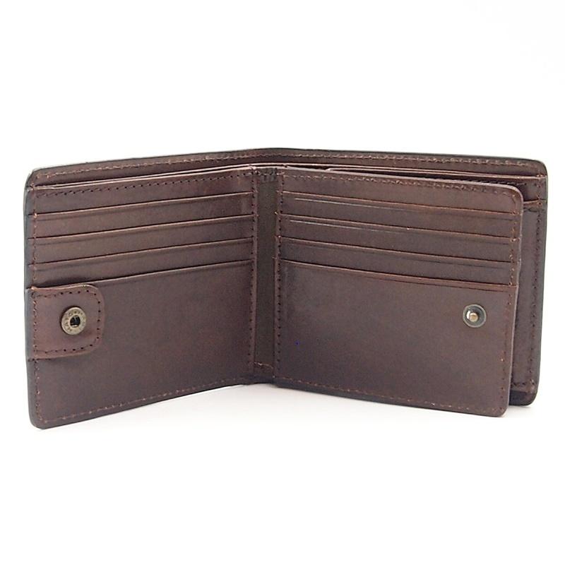 リベロ LA-002 牛革 二つ折り <財布> ブラック ブラウン 黒 折りたたみ カードケース コインケース 小銭入れ レザー メンズ LIBERO_画像7