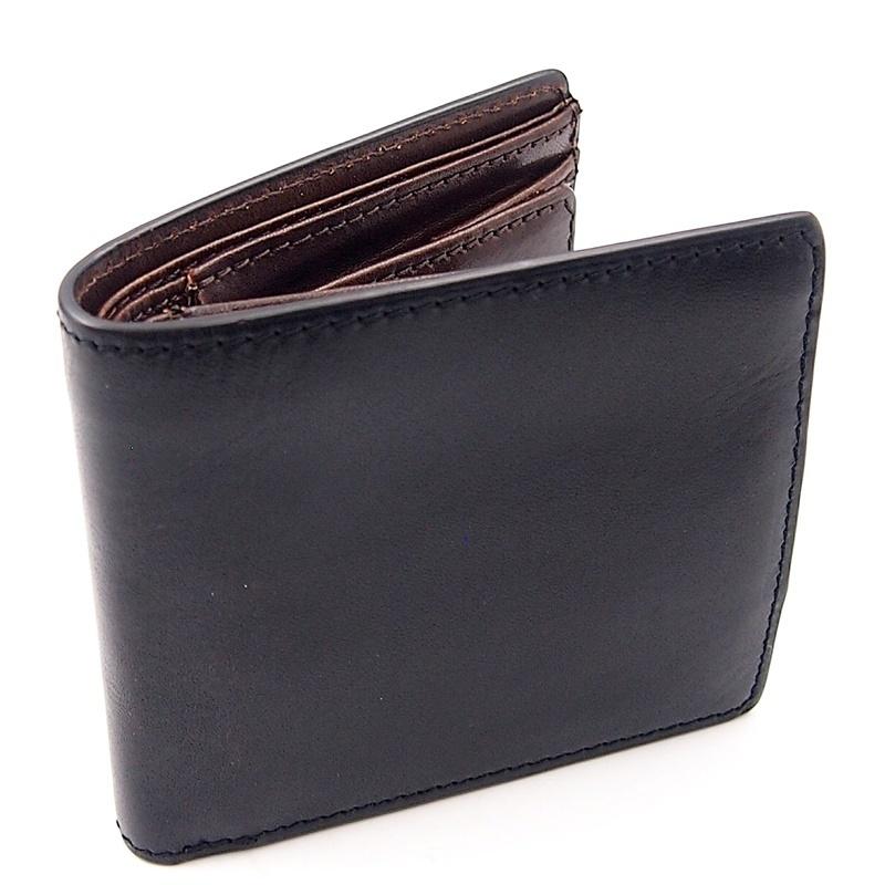 リベロ LA-002 牛革 二つ折り <財布> ブラック ブラウン 黒 折りたたみ カードケース コインケース 小銭入れ レザー メンズ LIBERO_画像2