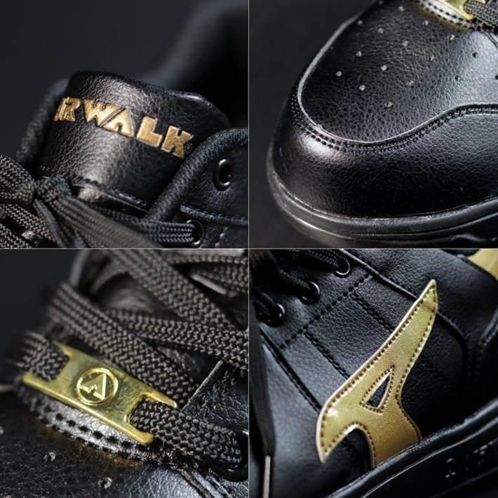 安全靴 メンズ AIRWALK エアウォーク スニーカー セーフティー シューズ 耐滑 耐油 衝撃吸収 AW-610 ブラック×ゴールド 25.0㎝ 新品_画像7