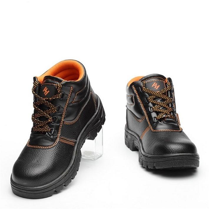 安全靴 鋼鉄先芯 スニーカー ブーツ シューズ メンズ 釘踏み抜き防止 靴 耐油 防滑 7995363 【A】 ブラック 40 25.0㎝ 新品 1円 スタート_画像5