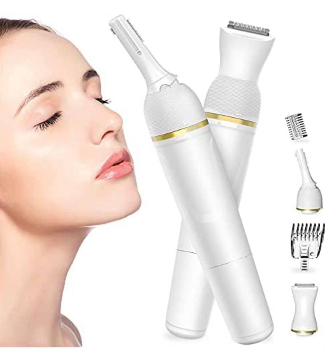 眉毛シェーバー KOXXBASS 男女兼用 30°角度調整 水洗い可能 一台多役 顔そり VIO専用 足 脇 産毛 全身適用 乾電池式 ホワイト