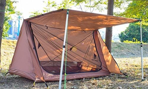 【在庫わずか】 パップテント 2人用 シェルター ソロ キャンプ ツーリング ポーランド 軍幕 テント 軽量 コンパクト 防虫 メッシュ 蚊帳