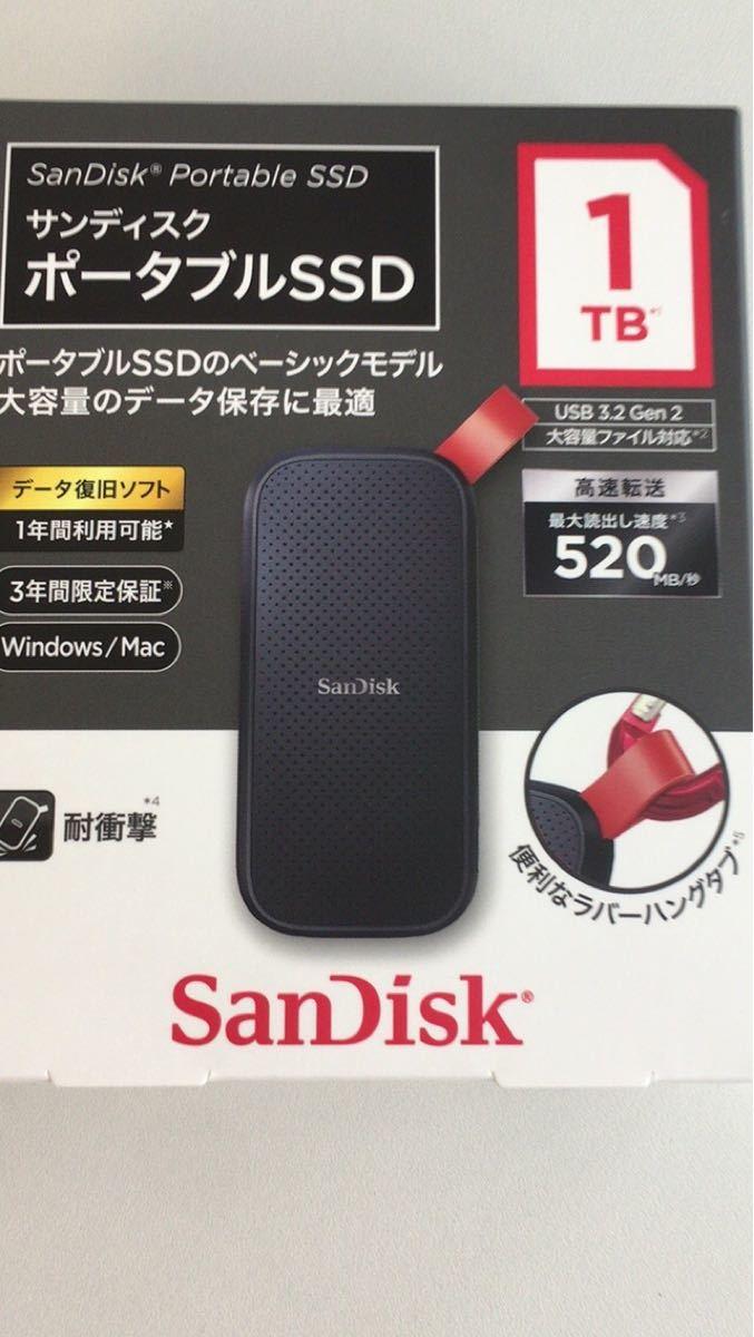 【新品未開封】サンディスク ポータブルSSD 1TB SDSSDE30-1T00-J25 SanDisk