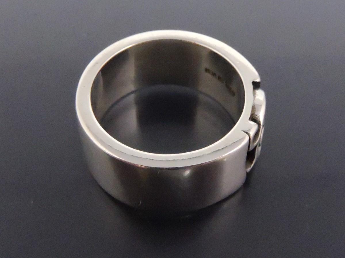 正規品 AQUA SILVER アクアシルバー 銀製 指輪 リング アラベスク 重厚 21号_画像6