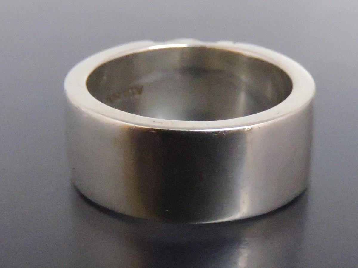 正規品 AQUA SILVER アクアシルバー 銀製 指輪 リング アラベスク 重厚 21号_画像4