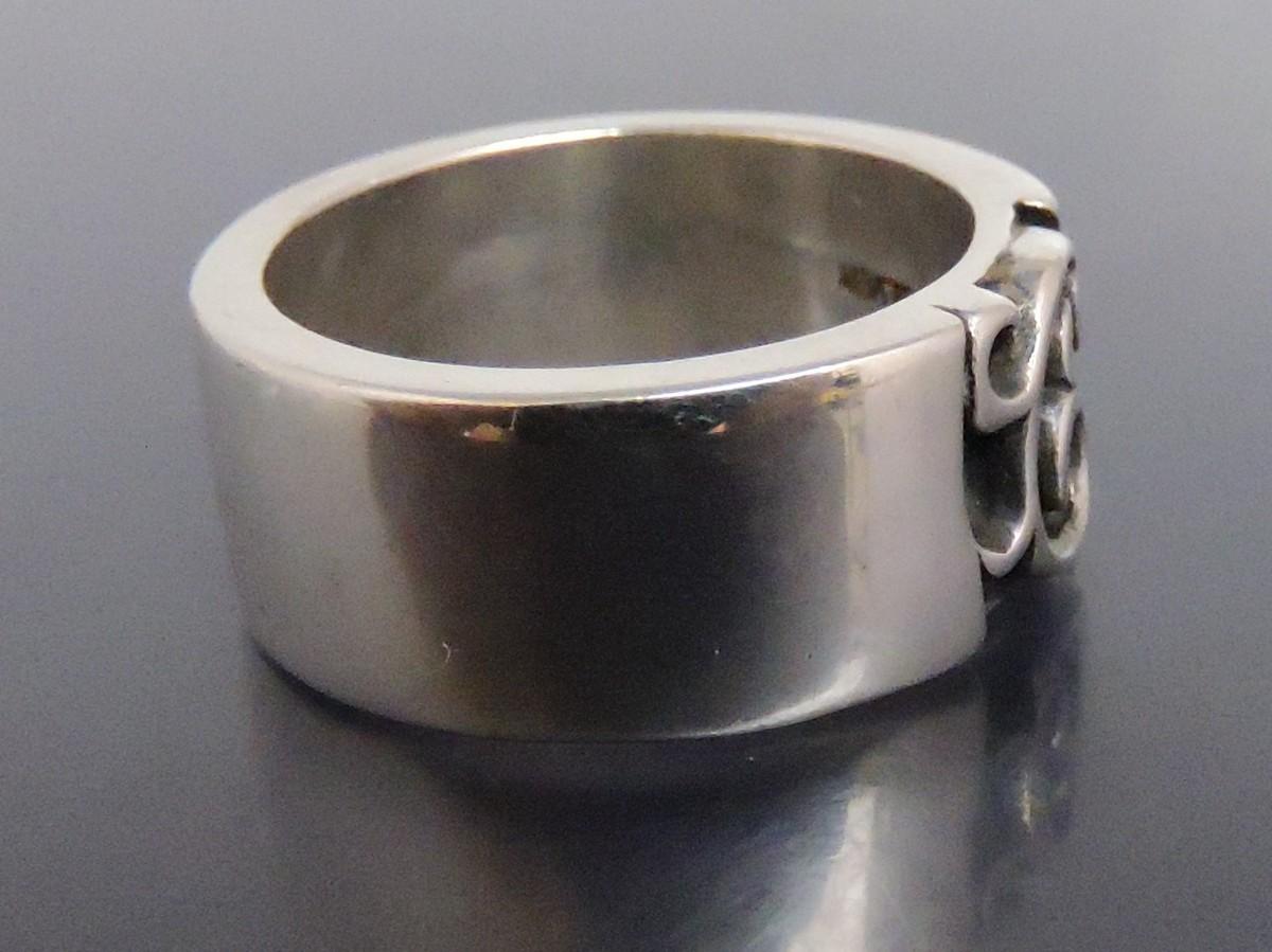 正規品 AQUA SILVER アクアシルバー 銀製 指輪 リング アラベスク 重厚 21号_画像5