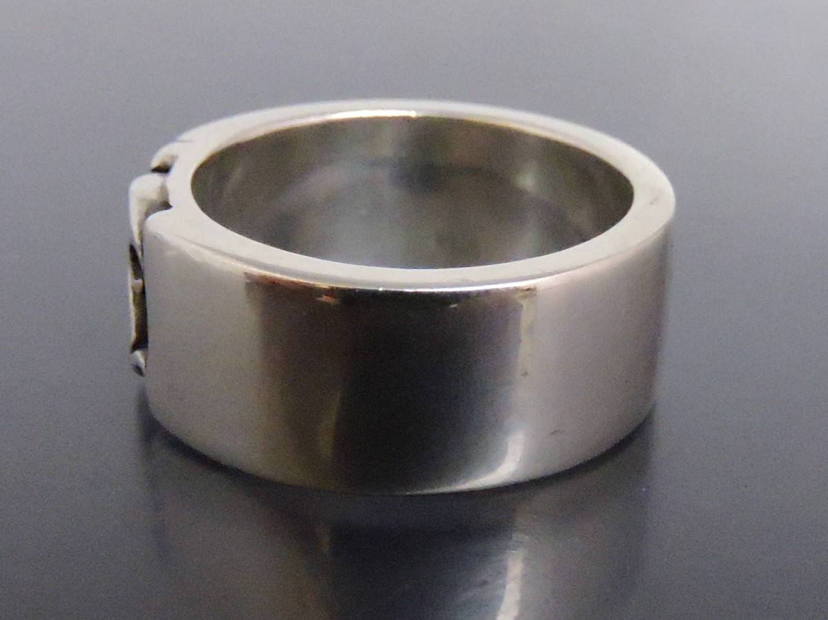 正規品 AQUA SILVER アクアシルバー 銀製 指輪 リング アラベスク 重厚 21号_画像3