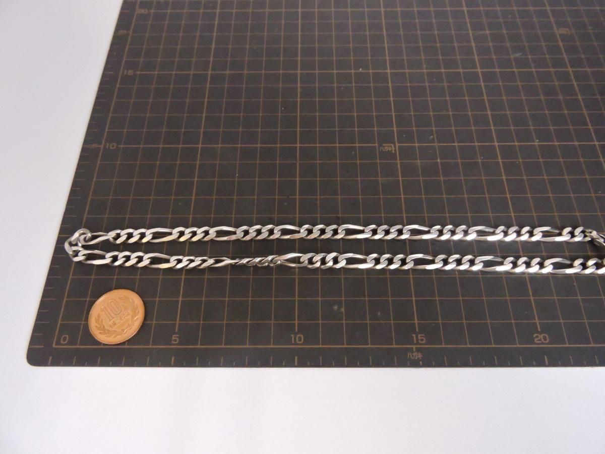 シルバー925 ネックレス 6面カット デザイン喜平チェーン 幅約7㎜ 長さ約50㎝ イタリア製_画像6