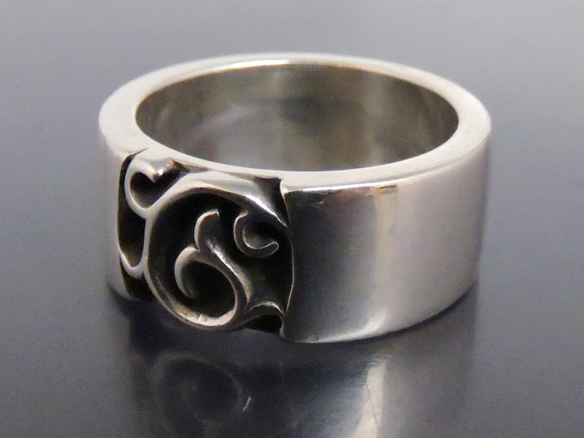 正規品 AQUA SILVER アクアシルバー 銀製 指輪 リング アラベスク 重厚 21号_画像2