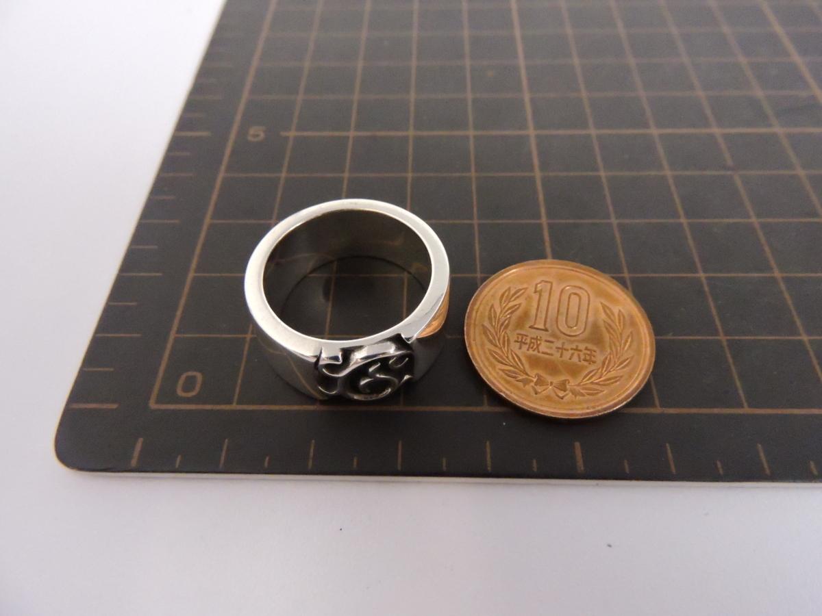 正規品 AQUA SILVER アクアシルバー 銀製 指輪 リング アラベスク 重厚 21号_画像8