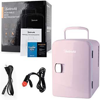 2 ピンク AstroAI 冷温庫 ミニ冷蔵庫 4L 小型でポータブル 家庭 車載両用 保温 保冷 2電源式 便利な携帯式 コン_画像8