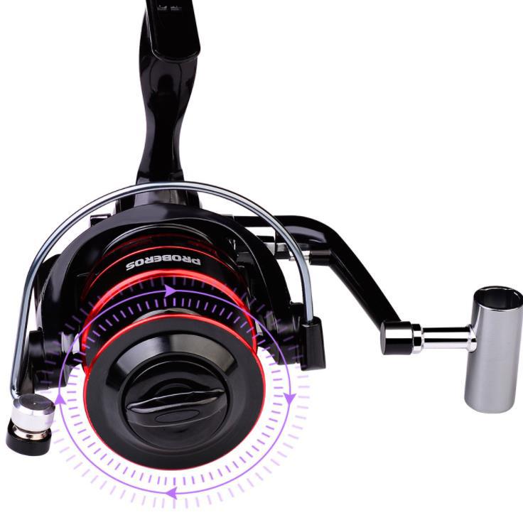 Z340 送料無料 フィッシング リール スピニングリール 6000番 釣り 海水 淡水 ギア比5.2:1 ハンドル左右交換_画像4