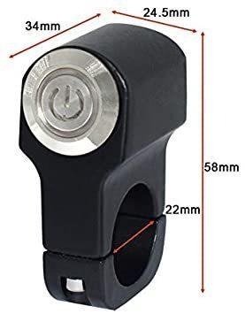 新品ヘッドライトフォグスポットライトON/OFFスイッチ 防水 12V 22mmハンドルバーオートバイ用FARW_画像3