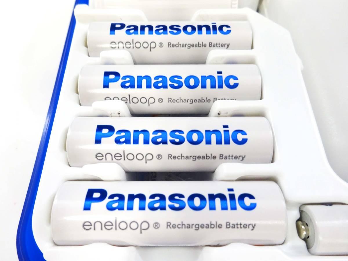 ◆①Panasonic eneloop エネループ 充電式ニッケル水素電池 充電器セット スペーサー 充電池 K-KJ22MCC84 1パナソニック 家電 _画像5
