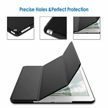 ブラック 9.7インチ JEDirect iPad Air ケース (第1世代) レザー 三つ折スタンド オートスリープ機能 ス_画像5