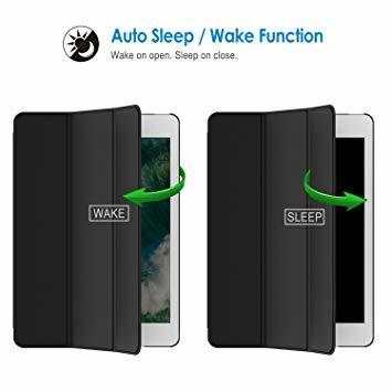 ブラック 9.7インチ JEDirect iPad Air ケース (第1世代) レザー 三つ折スタンド オートスリープ機能 ス_画像4